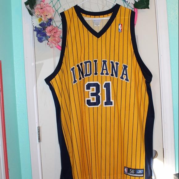VTG Reebok Indiana Pacers Reggie Miller Jersey 89dc0591c