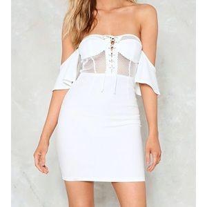 NWT White Bodycon Dress!