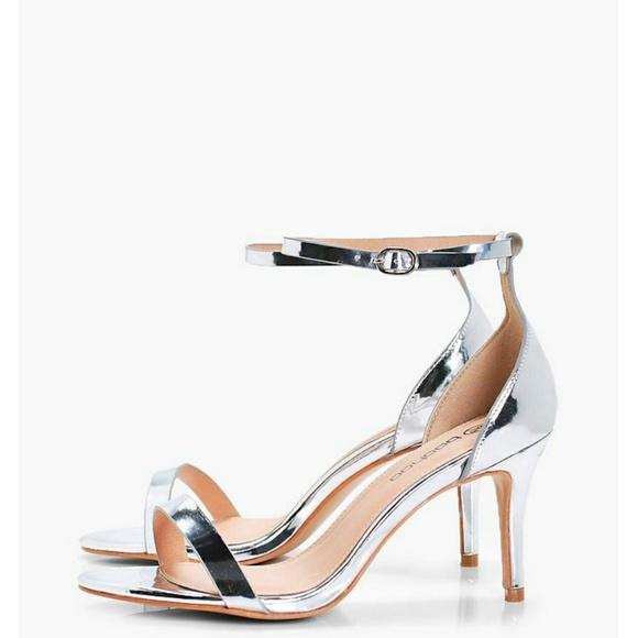 Shoes   New Size 11 Wide Metallic Heels