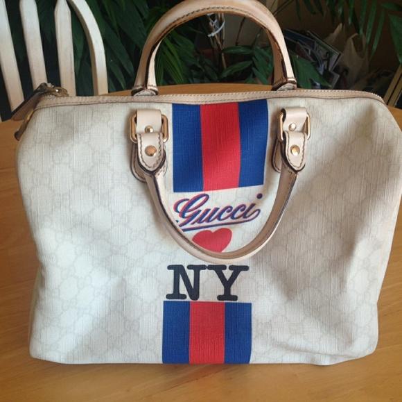 95609c867 Gucci Bags | Loves Ny Boston Bag | Poshmark