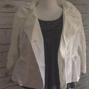 Jackets & Blazers - White linen jacket