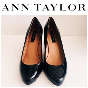 Ann Taylor Elegant Patent Leather Pumps