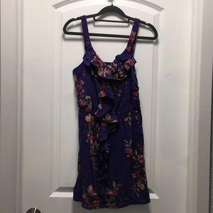 EXPRESS floral ruffle sun dress, size SMALL (S)
