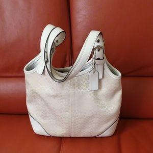 Authentic Limited Edition White/Silver Coach Bag