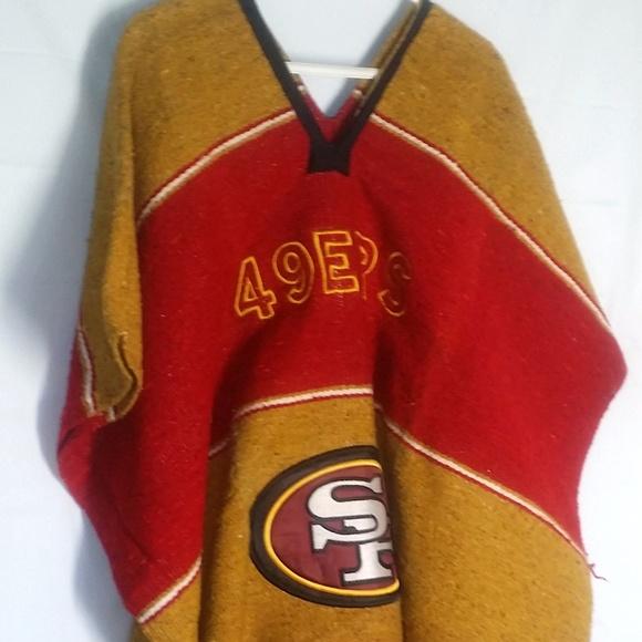 34fde53a6 San Francisco 49ers Poncho Cape Coat Jacket. M 5a31ad6f8f0fc46d21024eaf