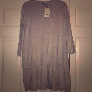 NWT!! ZARA Knit flutter dress .. final price