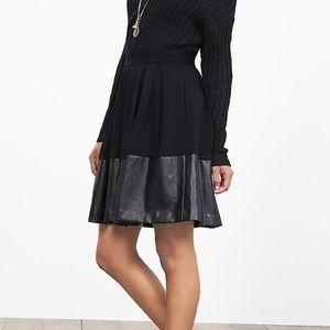 74f6465d22 Banana Republic Skirts - BANANA REPUBLIC Faux Leather Trim Full Skirt