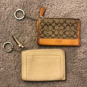 Set of 2 Authentic Used Coach Coin Wallet