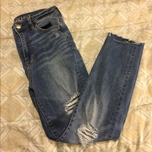 American Eagle Highest Rise Distressed Jegging - 4