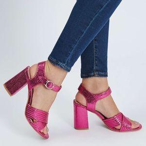 Topshop Metallic Pink Sandal