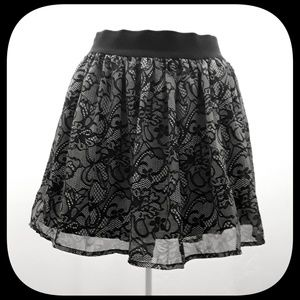 "Charlotte Russe Skirts - Black and Gray ""Lace"" Skirt"