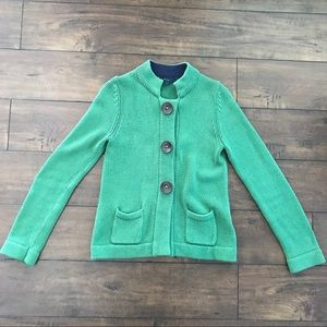 Boden Wool Blend Snap Button Front Cardigan