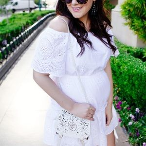 Cupcakes and Cashmere White Eyelet Dress