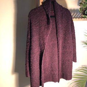 Free people maroon sweater coat