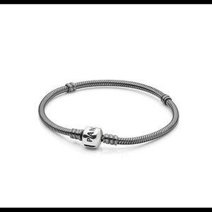 Oxidized Sterling Silver Charm Bracelet