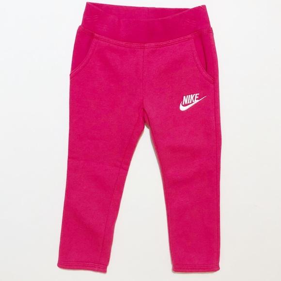 Nike 2T Pink Pull On Straight Leg Sweatpants b0d40f82772