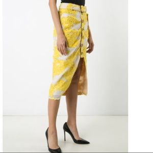 f0d4345278eae Self-Portrait Skirts - NWT Self Portrait yellow lace midi skirt floral