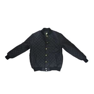 Jackets & Coats - Quilted Bomber Jacket - Black