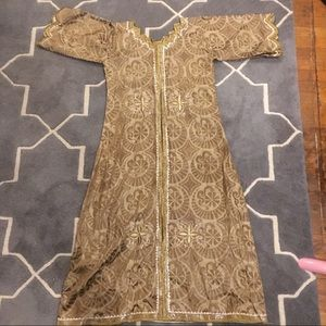 Dresses & Skirts - Gold embroidered long tunic