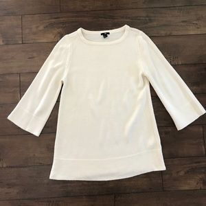 H&M Ivory Crewneck Tunic Sweater