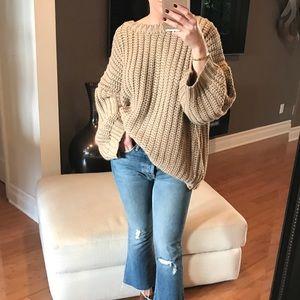 "Sweaters - GIRLFRIEND Chunky Knit Sweater ""Mocha"""