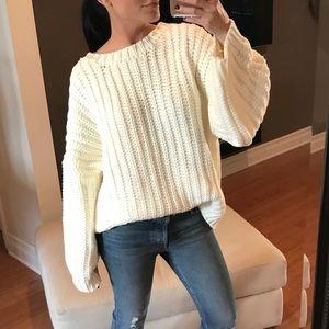 "Sweaters - 🆕 GIRLFRIEND Chunky Knit Sweater ""Ivory"""