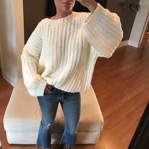 "Sweaters - GIRLFRIEND Chunky Knit Sweater ""Ivory"""