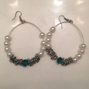 Jewelry - Silver Large Hoop Earring