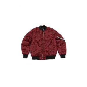 Other - Bomber Jacket - Burgundy