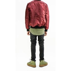 Jackets & Coats - Bomber Jacket - Burgundy