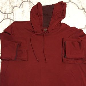 Vince hooded L/S tee