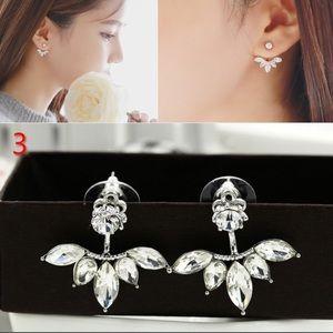 Jewelry - Rhinestone Double Sided Earrings
