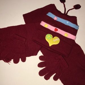 Other - Kids matching hat, scarf and gloves set
