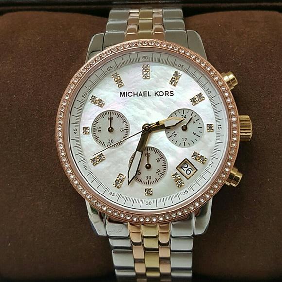 7a0cfe016ae3 New! Michael Kors Swarovski crystal watch. NWT