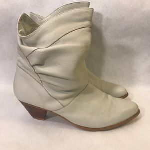 Cool vintage 80's slouch booties Boots