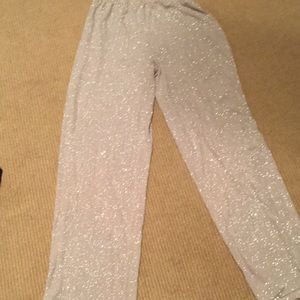Pants - Alex evening sparkle pants in ivory with gold