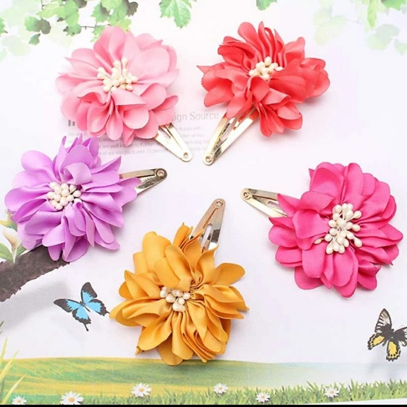 Jolori hair accessories set of two 2 silk flower hair clips pins make an offer m5a31d2b6b4188ec0d5001583 mightylinksfo