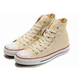 Converse Shoes - Cream Converse All star Hi Top sneakers