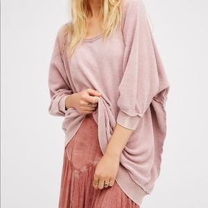 "Free People pink ""my pullover"" top"