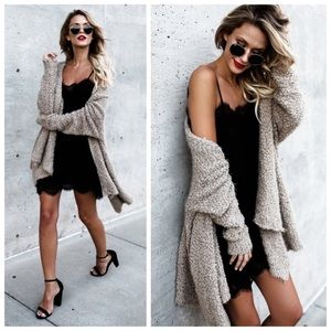 Sweaters - New Fluffy Mocha Cardigan