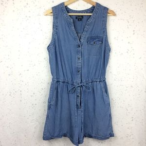 Pants - Lucky Brand Chambray Romper Sleeveless / Shorts M