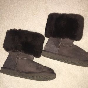 Tall dark brown ugg boots