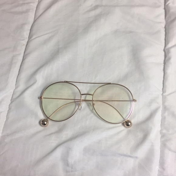 Accessories | Gold Large Round Frame Glasses | Poshmark