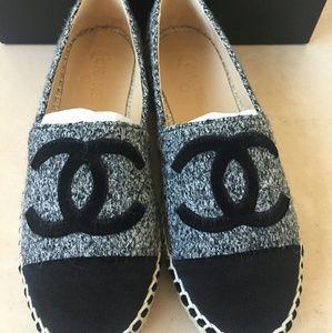 Chanel Espadrilles EU 37 Grey Tweed