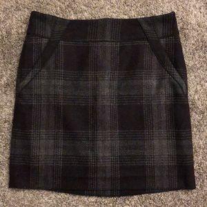 NWT LOFT Plaid Skirt