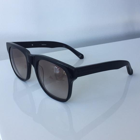 11b586cca65f Karen Walker Accessories - KAREN WALKER Pilgrim Sunglasses in Solid Black