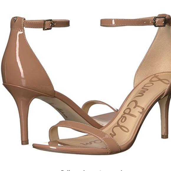 6bab33daff37 Sam Edelman Nude Patent Leather Patti Sandal. M 5a31e49d2fd0b7e2be006cda