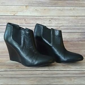 BCBG Leather black booties! Size 8