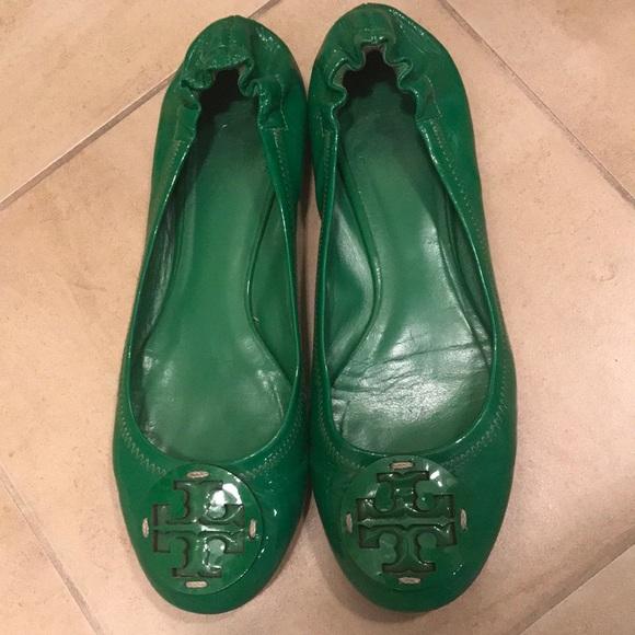 bf5b8d0c8 Tory Burch Green Reva Ballet Flats size 8. M 5a31e7fb680278245300783c