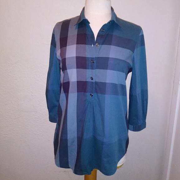 238d4c540ca Burberry Tops | Brit Cotton Check Tunic | Poshmark